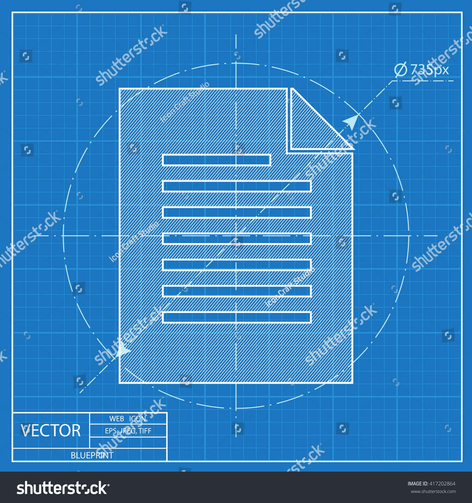 Blueprint icon document stock vector 417202864 shutterstock malvernweather Choice Image