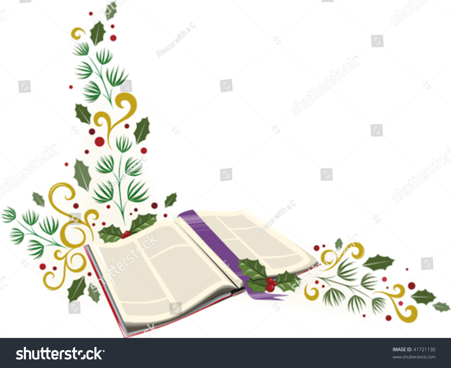 Christmas Bible Corner Embellishment Stock Vector (Royalty Free ...