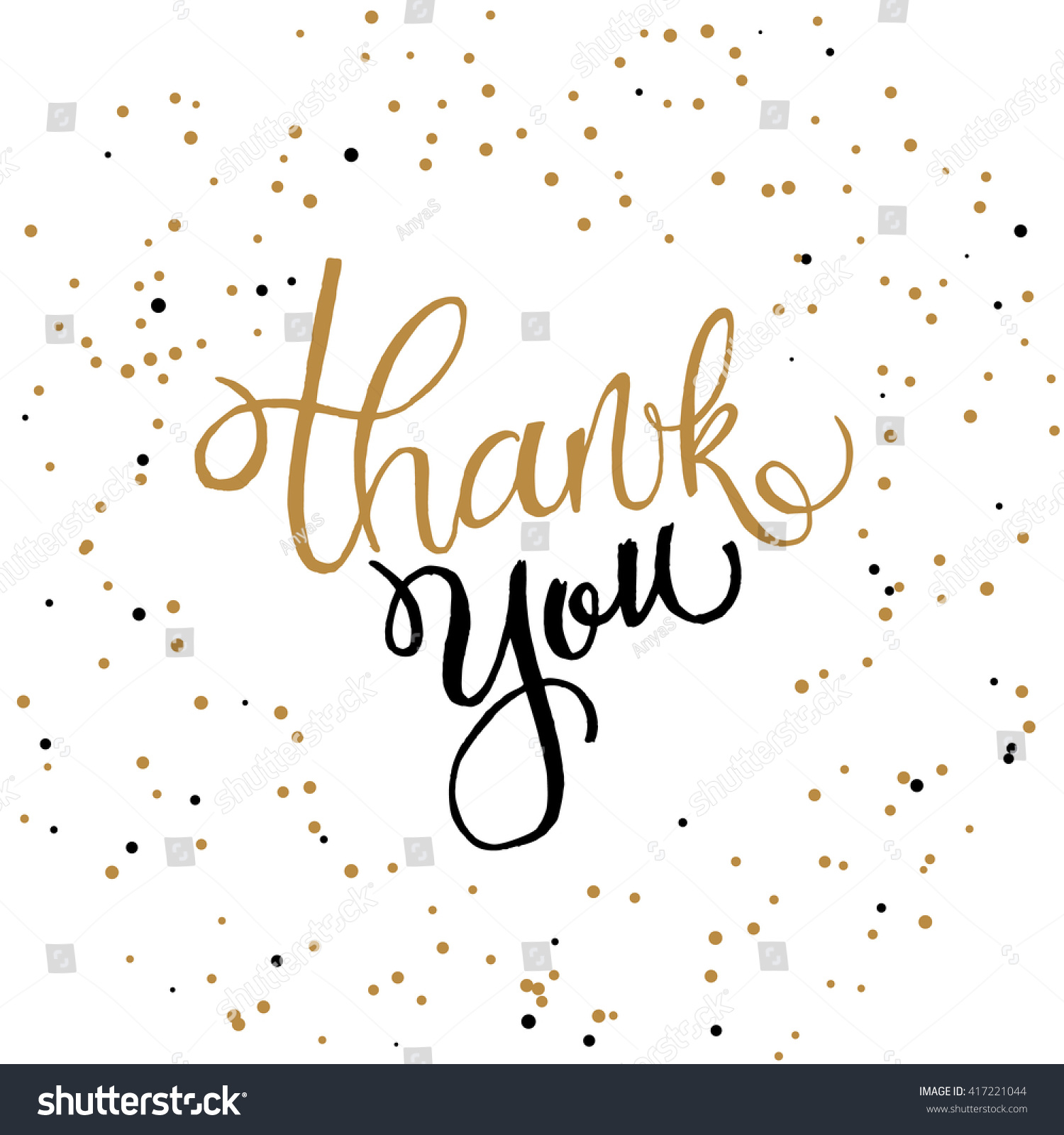 Handwritten vector lettering phrase thank you stock vector Thank you in calligraphy writing