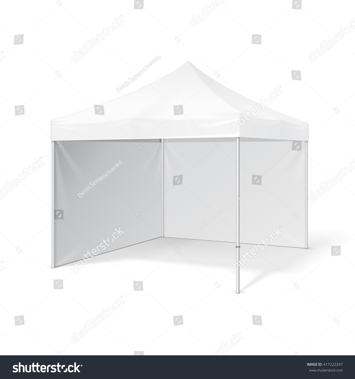 Pop Up Exhibition Stand Mockup Free : Promotional advertising outdoor event trade show stock