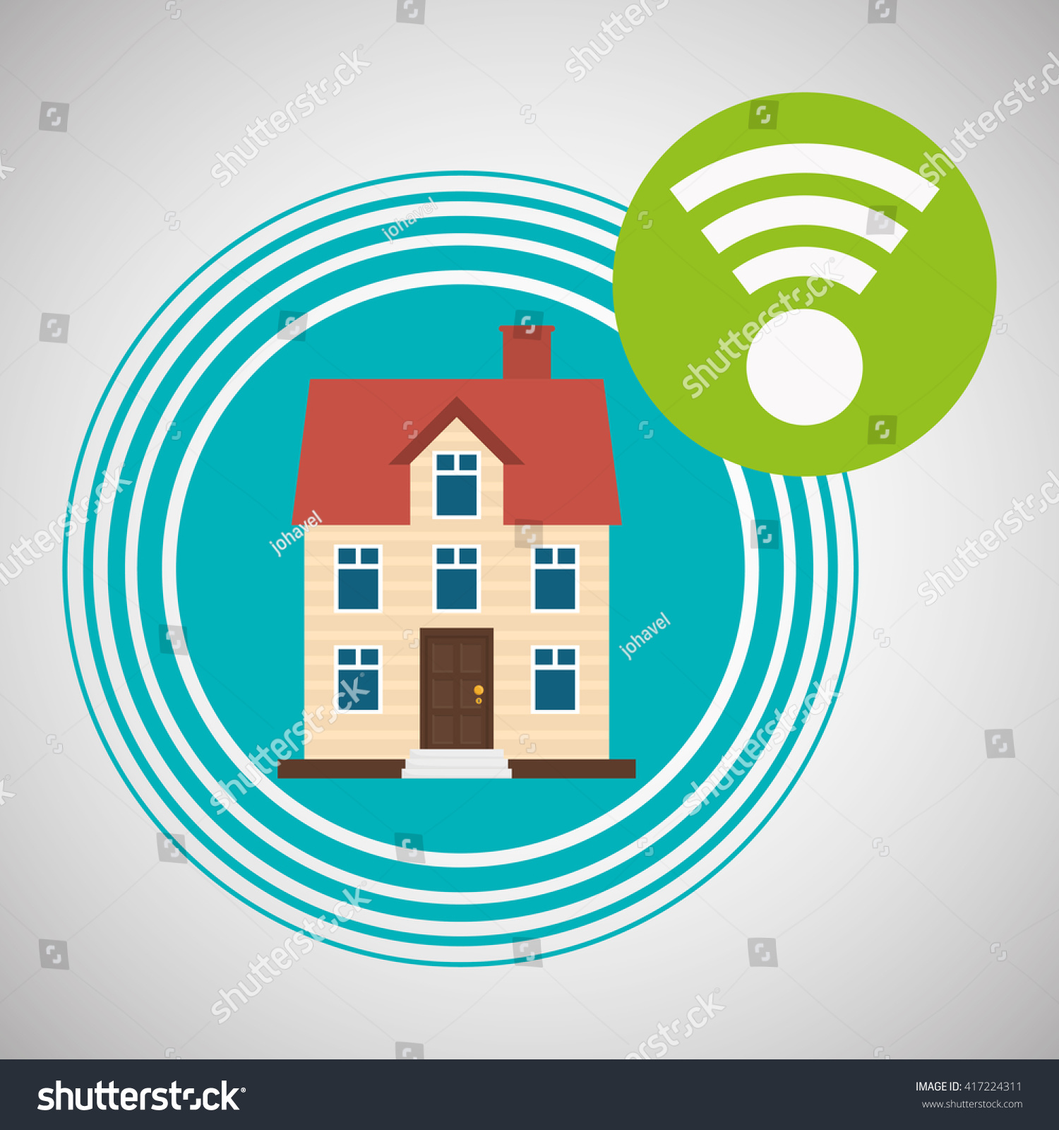 Home automation design. smart house icon. house concept, vector ...