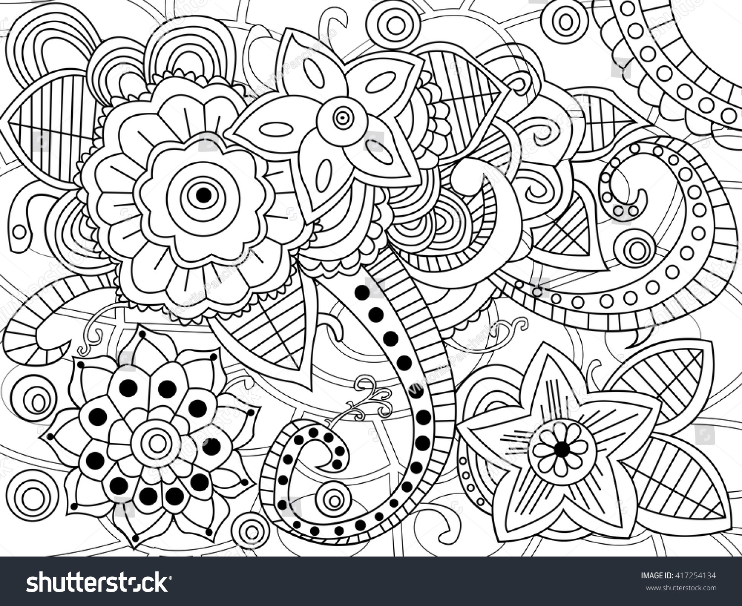 Mandala Coloring Book Adults Vector Illustration Stock Vector ...