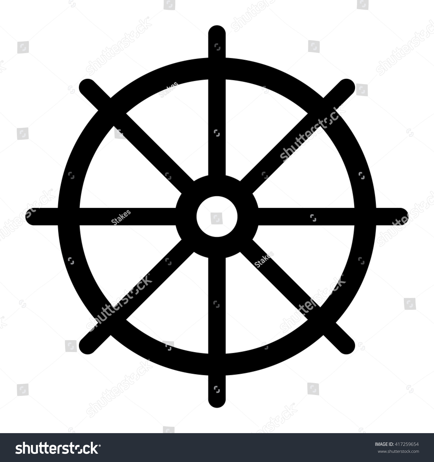 Dharma Wheel Buddhist Symbol Dharmachakra Stock Vector Royalty Free