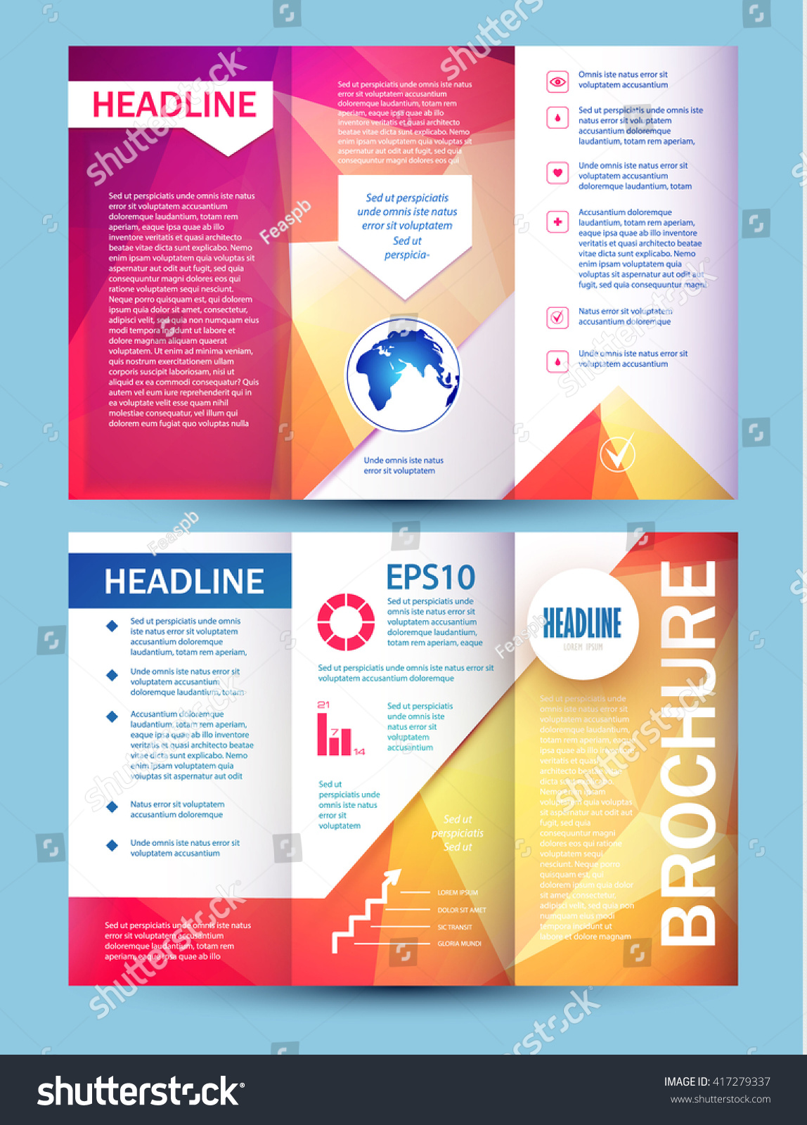 brochure booklet flyer layout template vector stock vector brochure booklet flyer layout template vector illustration