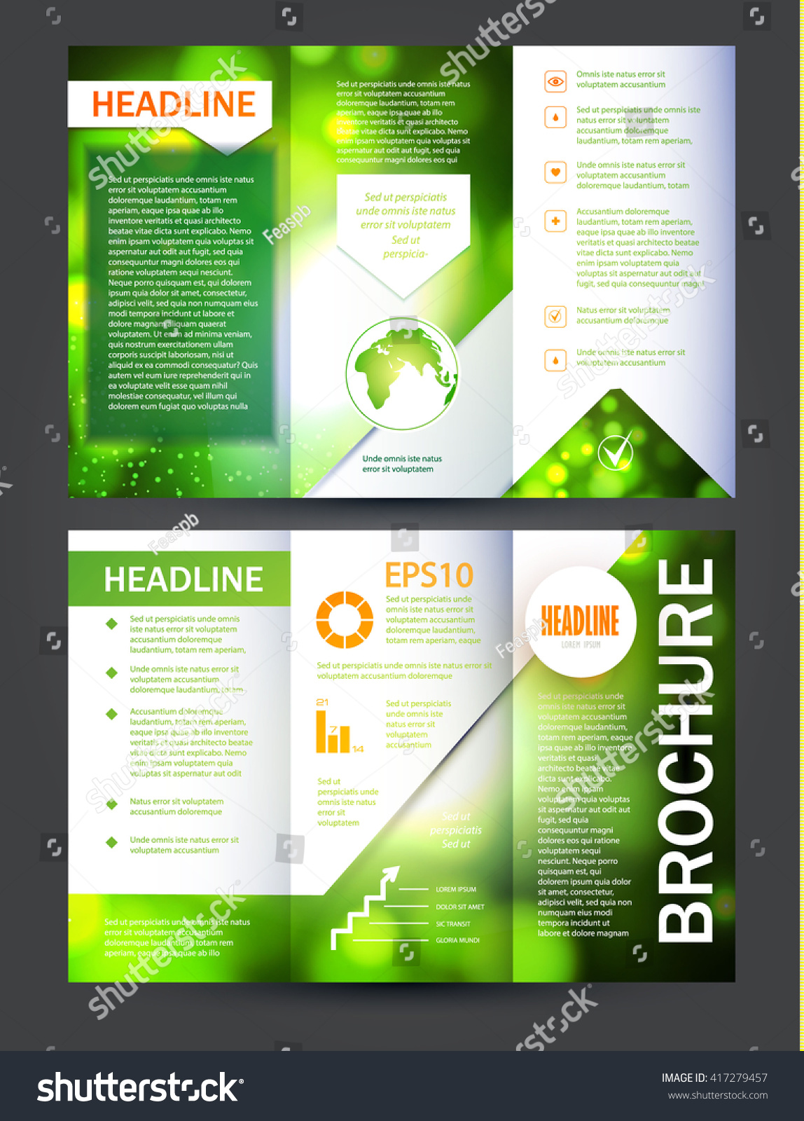 Brochure booklet flyer layout template vector stock vector for Brochure booklet templates
