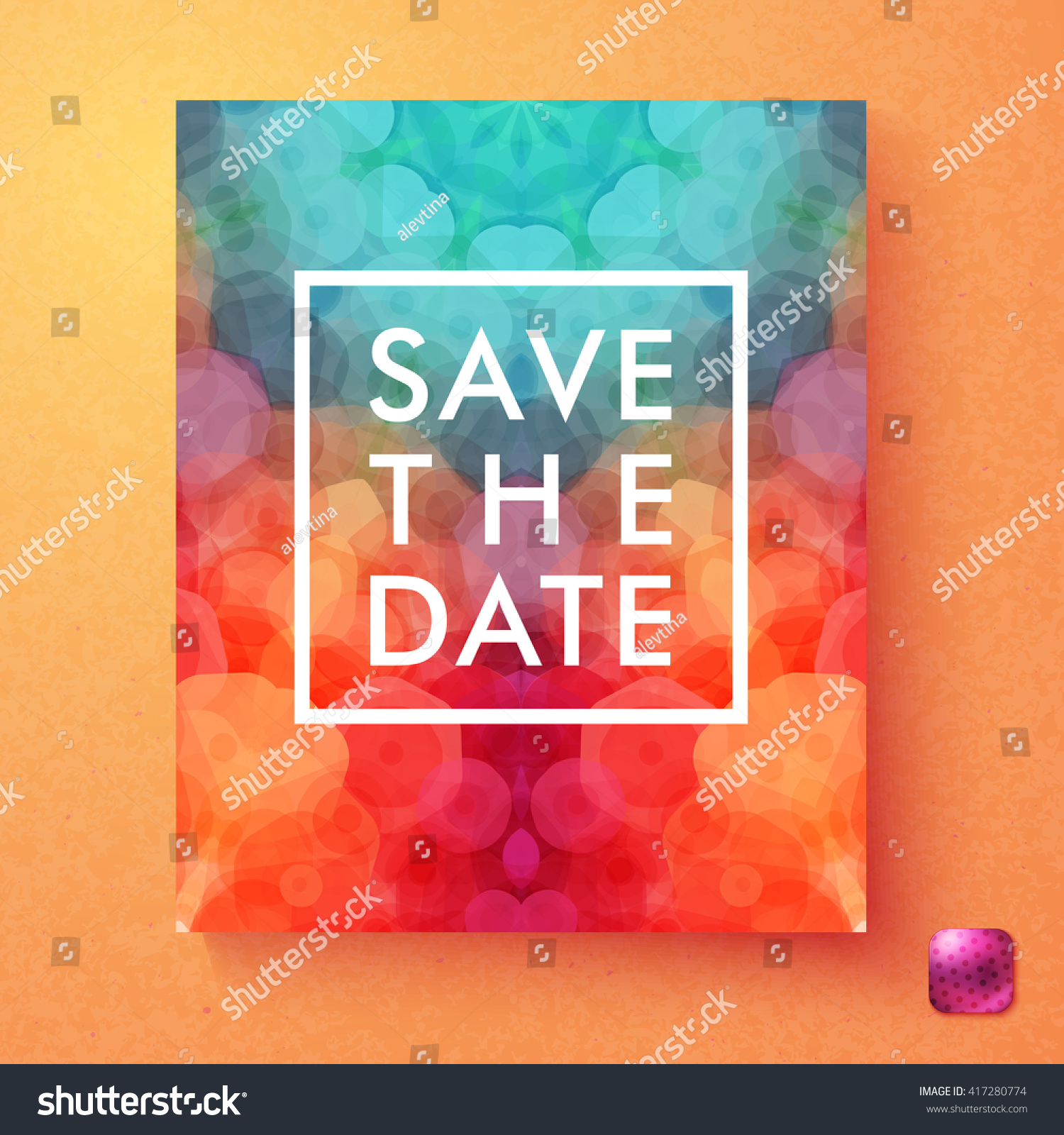 Bright Dynamic Vector Save Date Wedding Stock Vector (Royalty Free ...