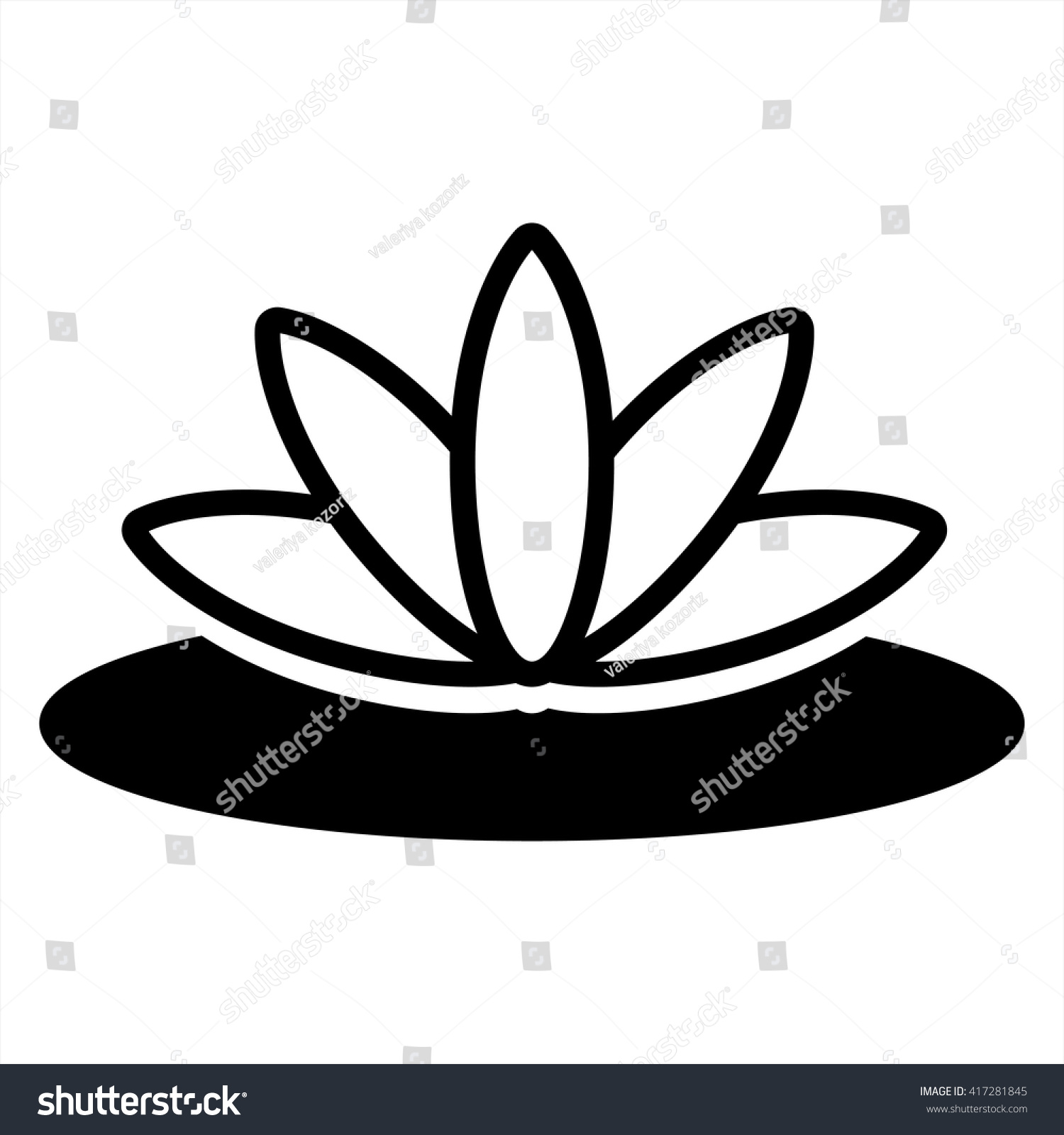 Royalty free lotus flower spa asia icon 417281845 stock photo lotus flower spa asia icon 417281845 izmirmasajfo