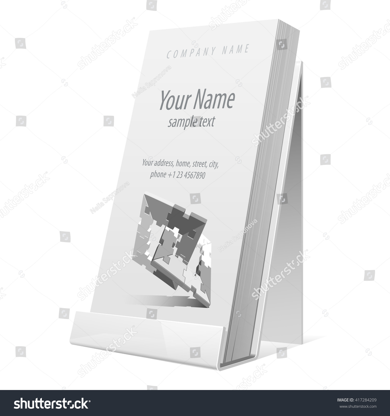 White glossy holder flyer brochure booklet stock vector 417284209 white glossy holder for flyer brochure booklet business cards vector illustration reheart Choice Image