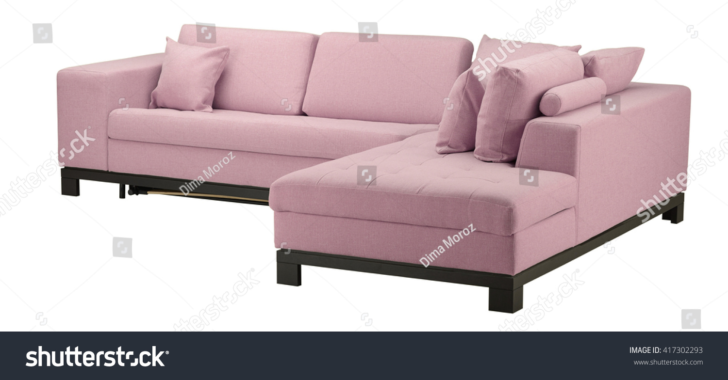 Pink Sofa Isolated On White Include Stock Photo 417302293