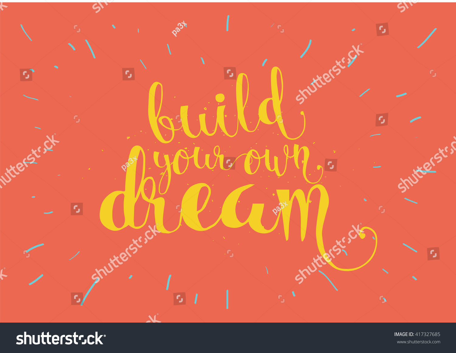 Build Your Own Dream Inspirational Inscription Stock Vector Royalty