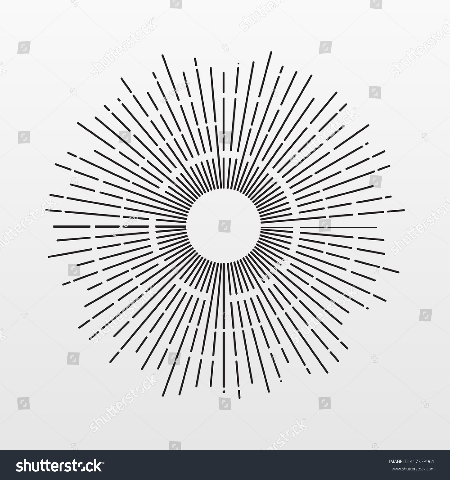 Vintage Sun Ray Vector Light Line Stock Vector 417378961 ... for Vector Light Rays Vintage  143gtk