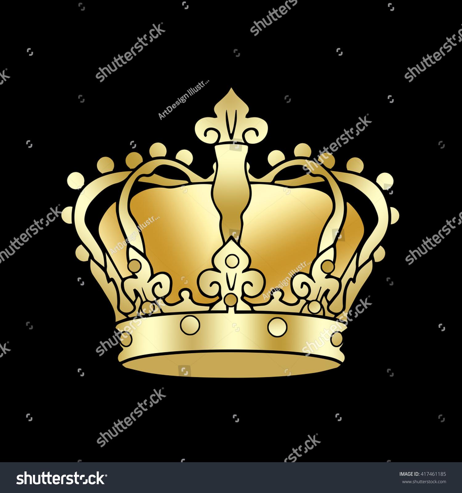 Royalty Free Crown Symbol Golden Crown King 417461185 Stock Photo