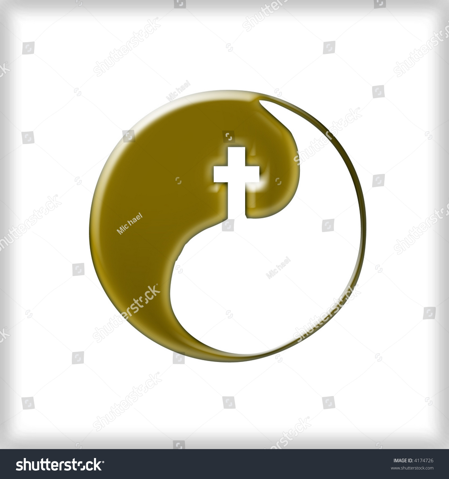 The tao symbol image collections symbol and sign ideas 3d tao symbol yin yang cross stock illustration 4174726 shutterstock 3d tao symbol yin and yang buycottarizona