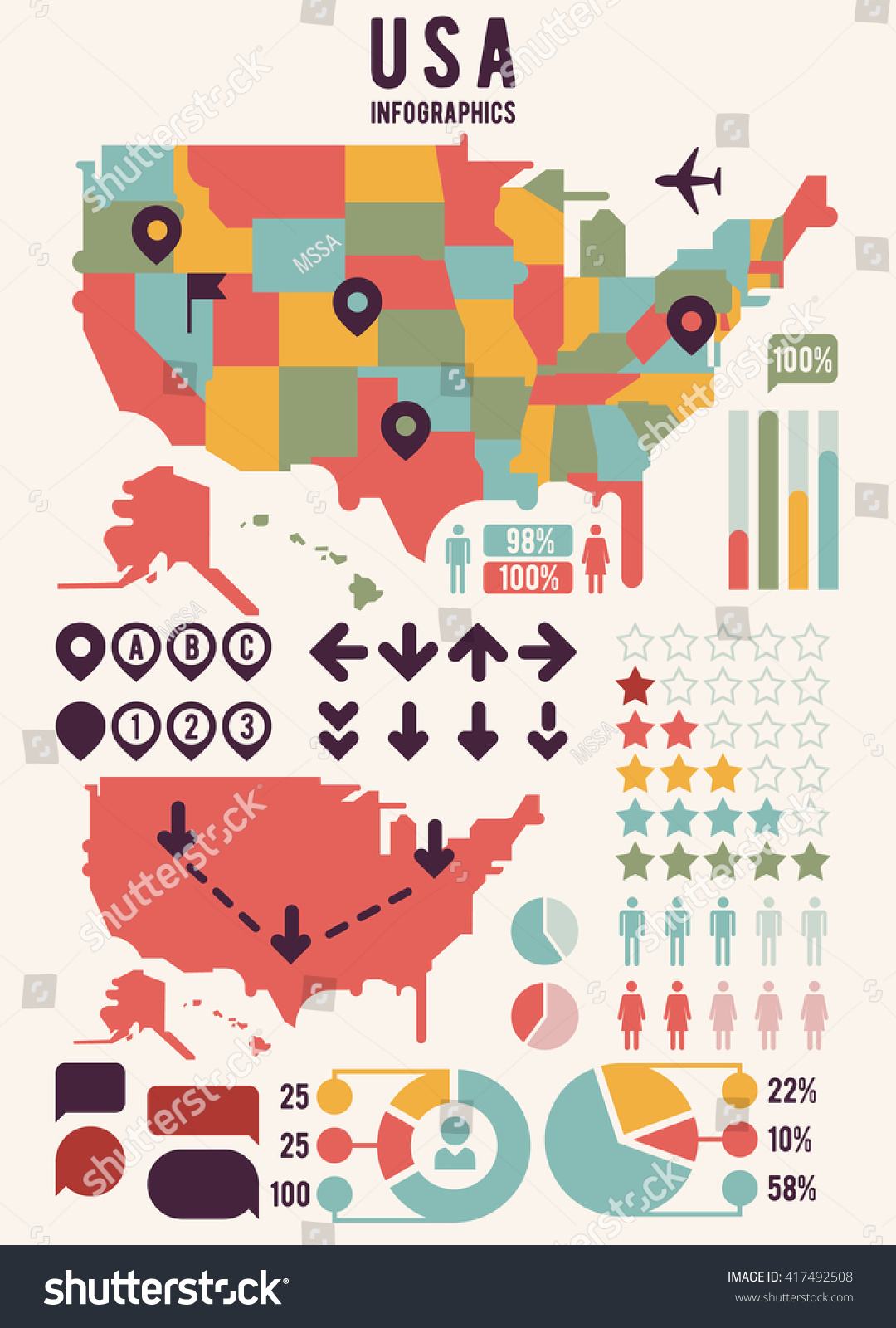 USA Map Print Out A Blank Map Of The US And Have The Kids Color - Maps united states of america