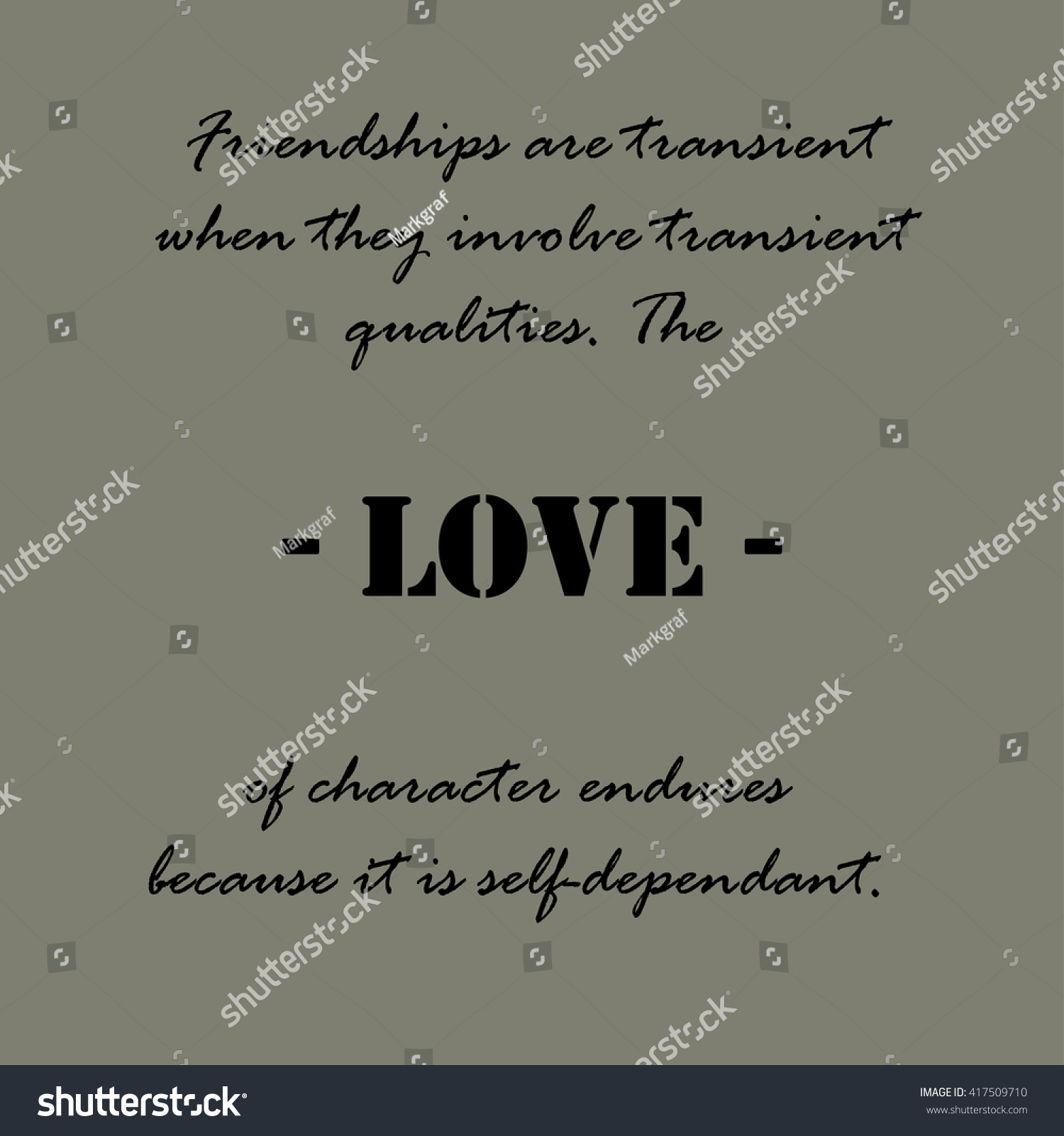 Quote About Friendships Aristotle Quotes Friendships Transient Stock Vector 417509710