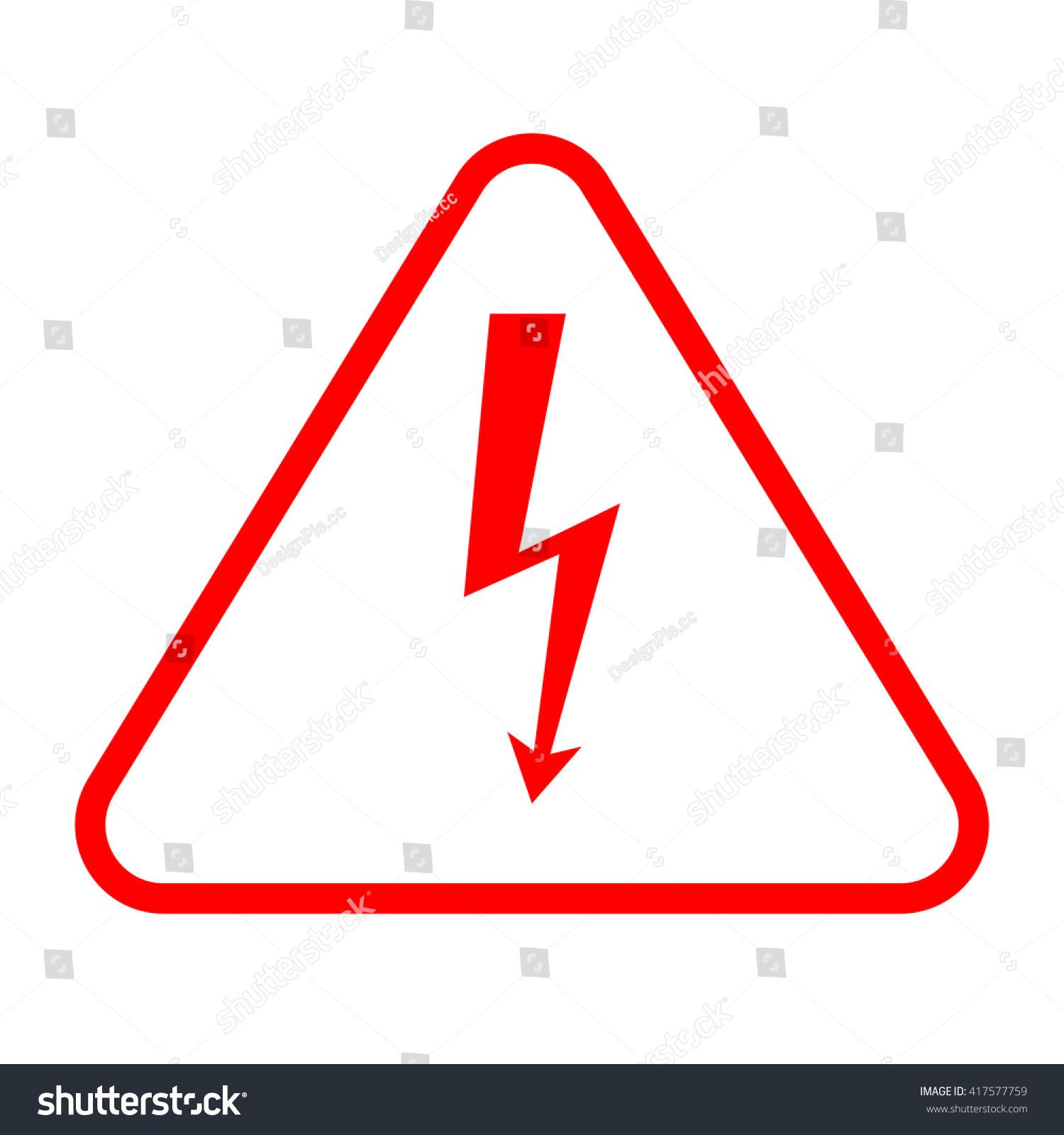 Vector Red High Voltage Sign Danger Stock Vector 417577759 ...