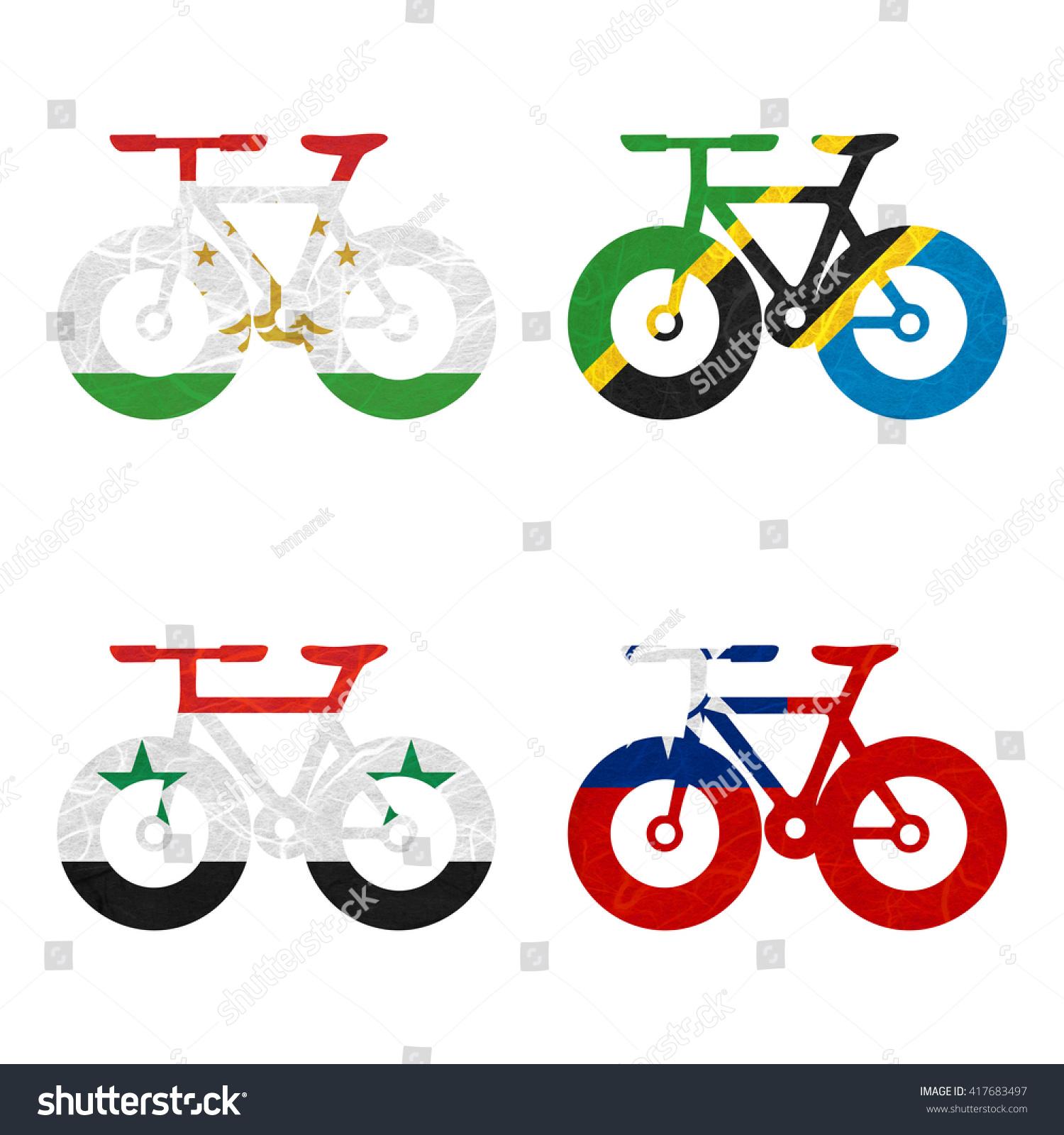 Nation flag bicycle recycled paper on stock illustration 417683497 bicycle recycled paper on white background syria taiwan tajikistan buycottarizona Choice Image