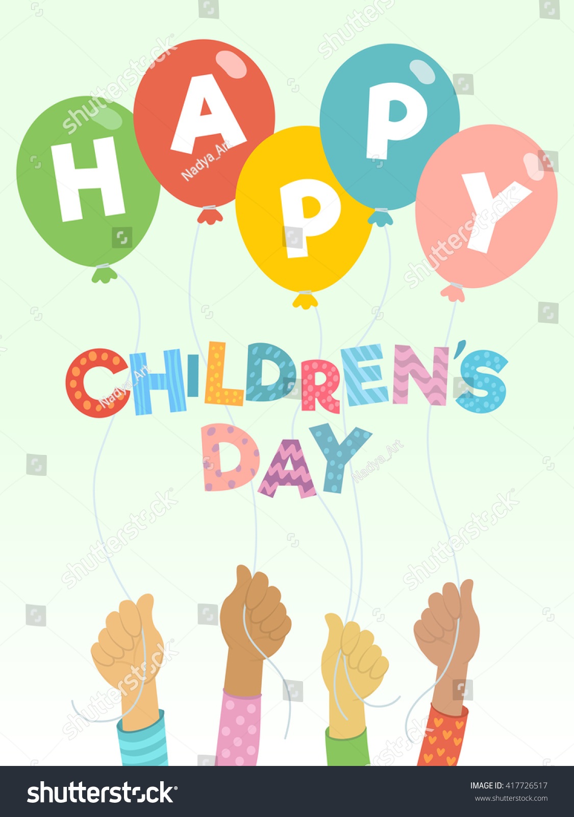 Childrens Day Vector Background Happy Childrens Vectores ...