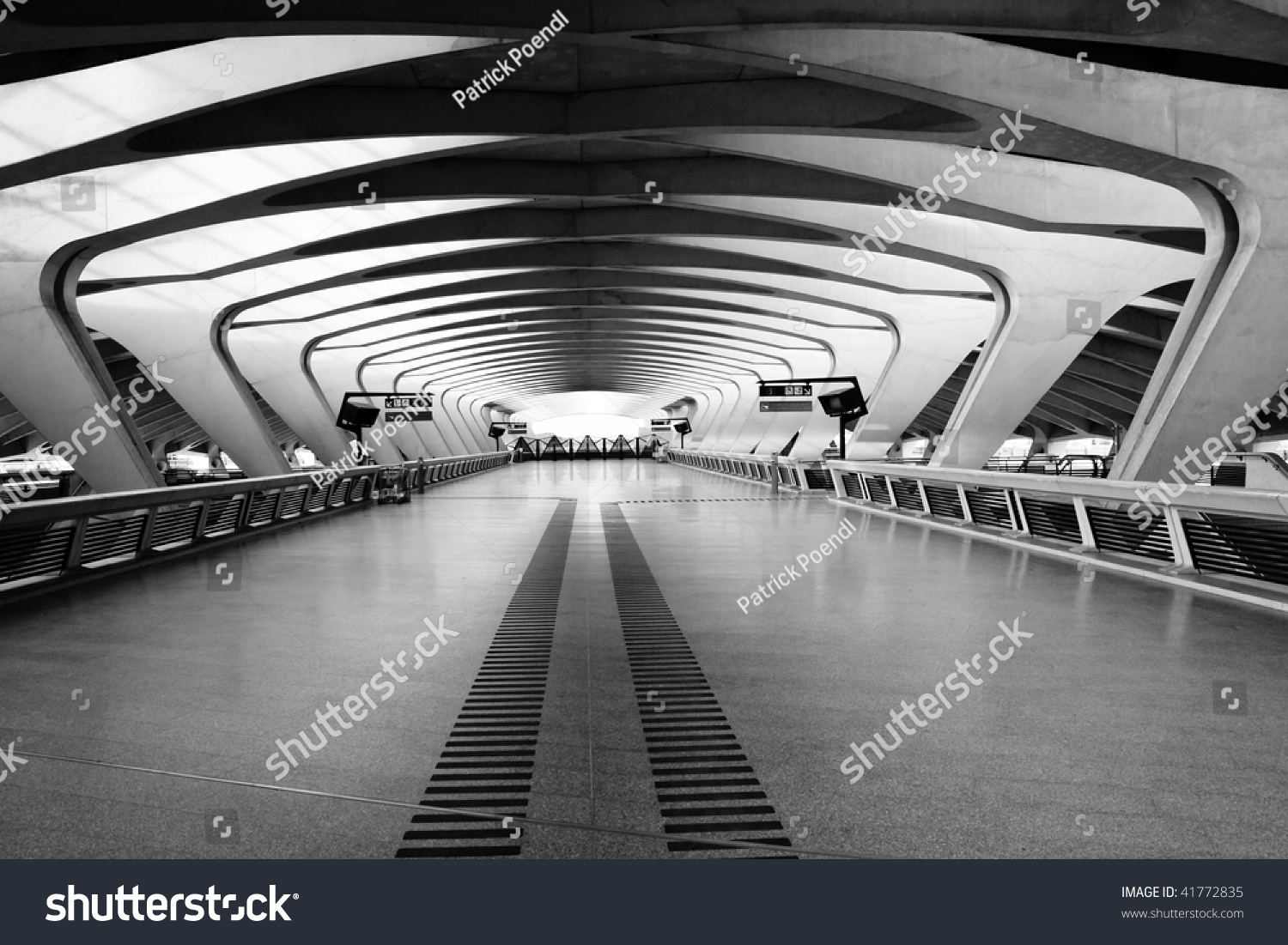 Modern Architecture France modern architecture long passage way train stock photo 41772835