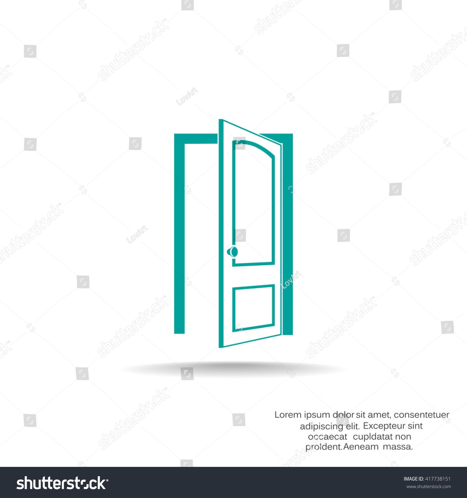 Door icon door icon vector door icon art door icon eps for Door design app