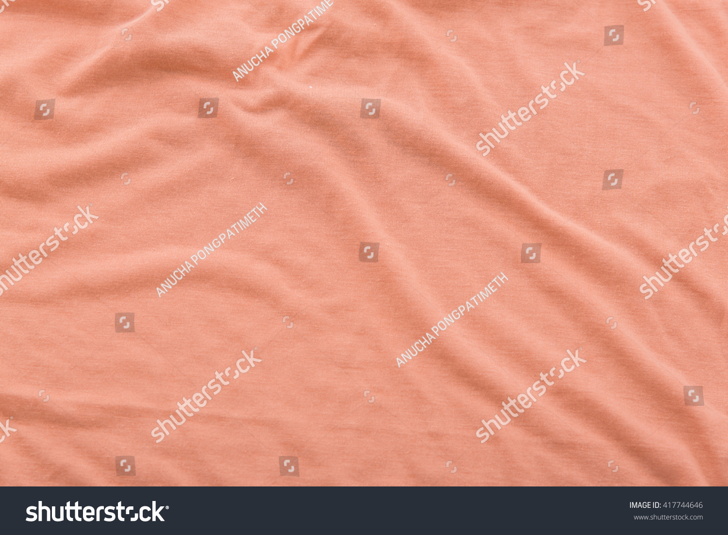 Brown bed sheet textures - Close Up Of Beautiful Wrinkle Coral Color Bedsheet Fabric Texture