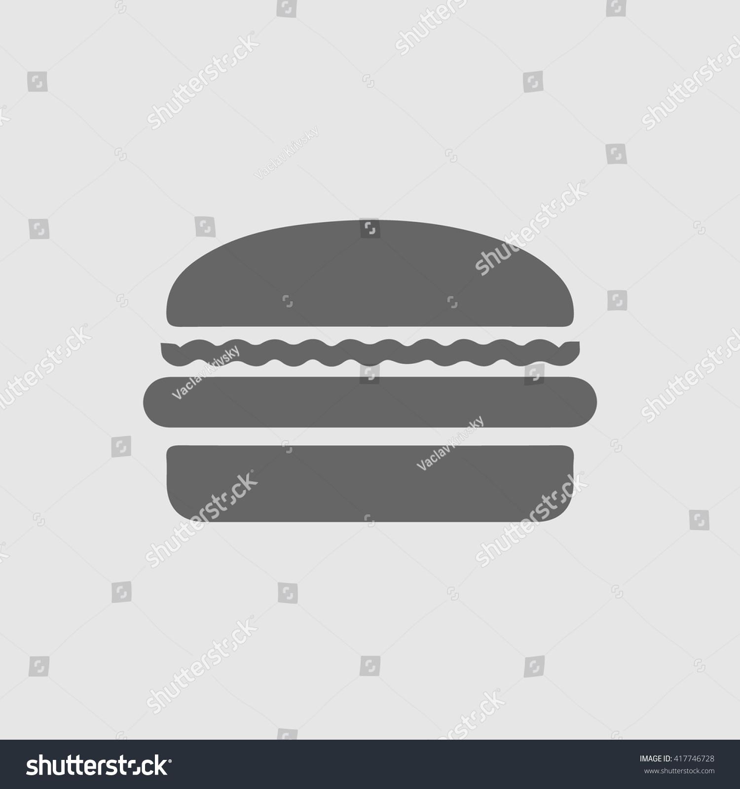 Burger Vector Logo Icon Fast Food Stock Vector Royalty Free