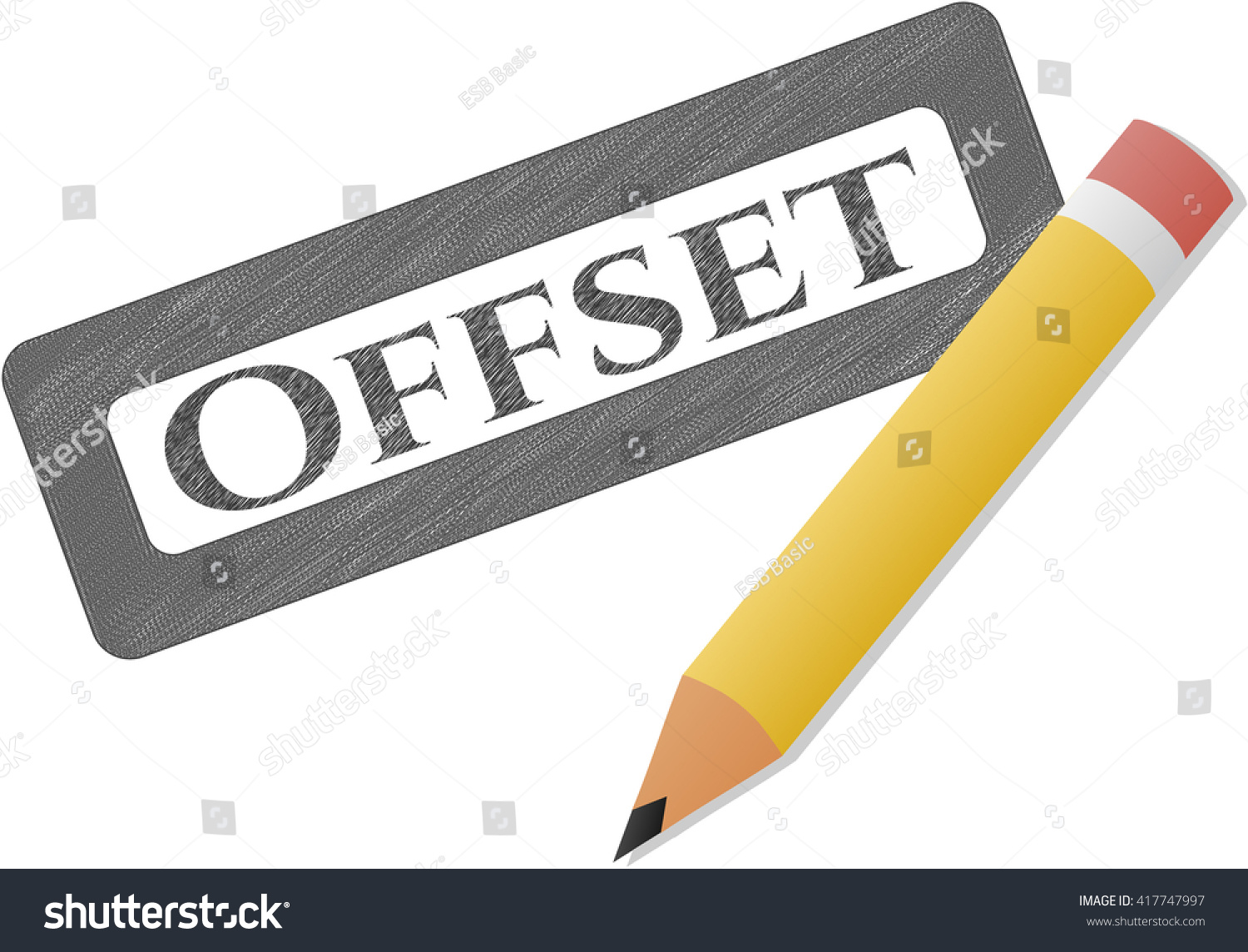 Offset Pencil Draw Stock Vector Royalty Free 417747997 Shutterstock