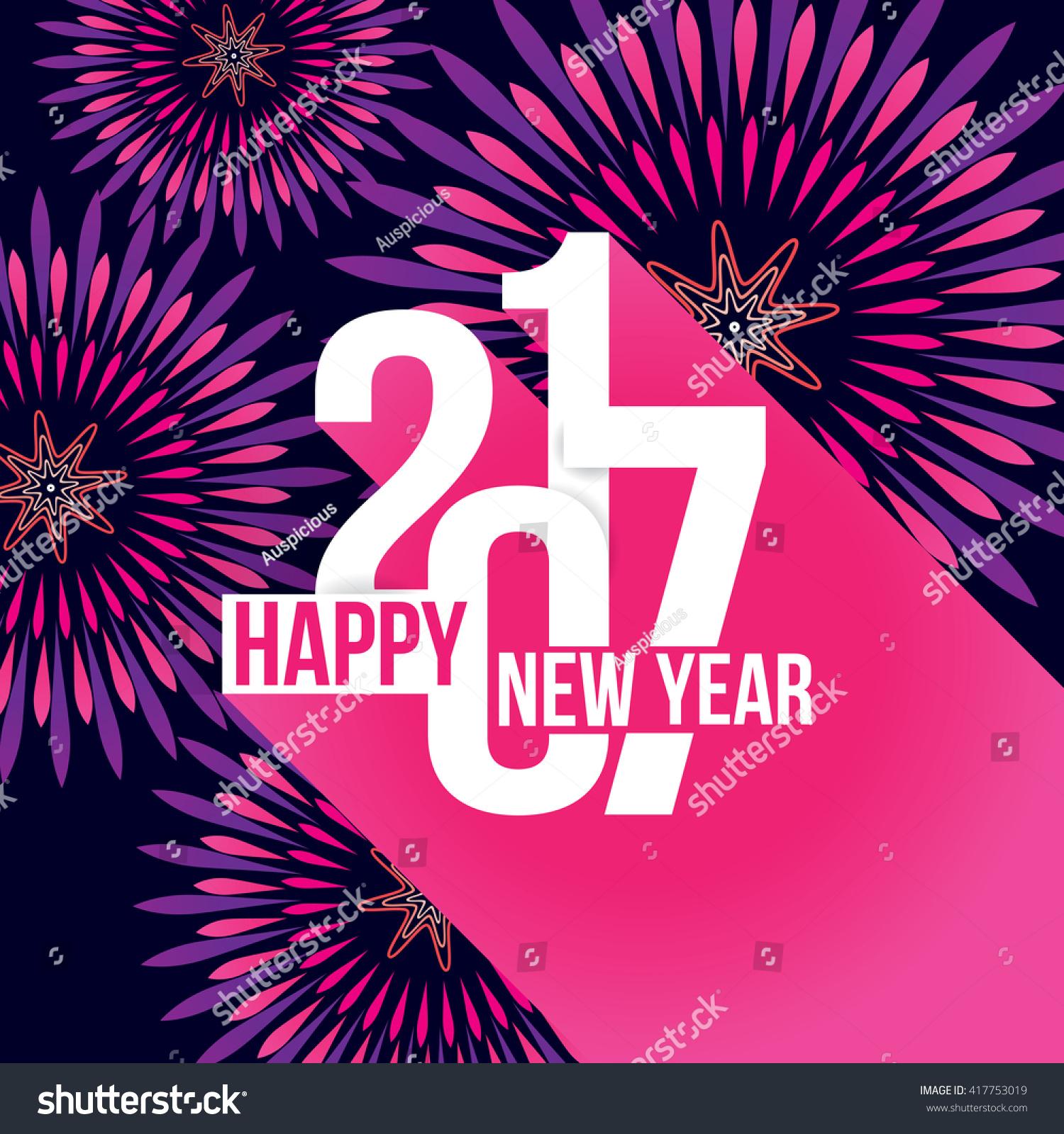 Vector Illustration Fireworks Happy New Year Stock Vector ...