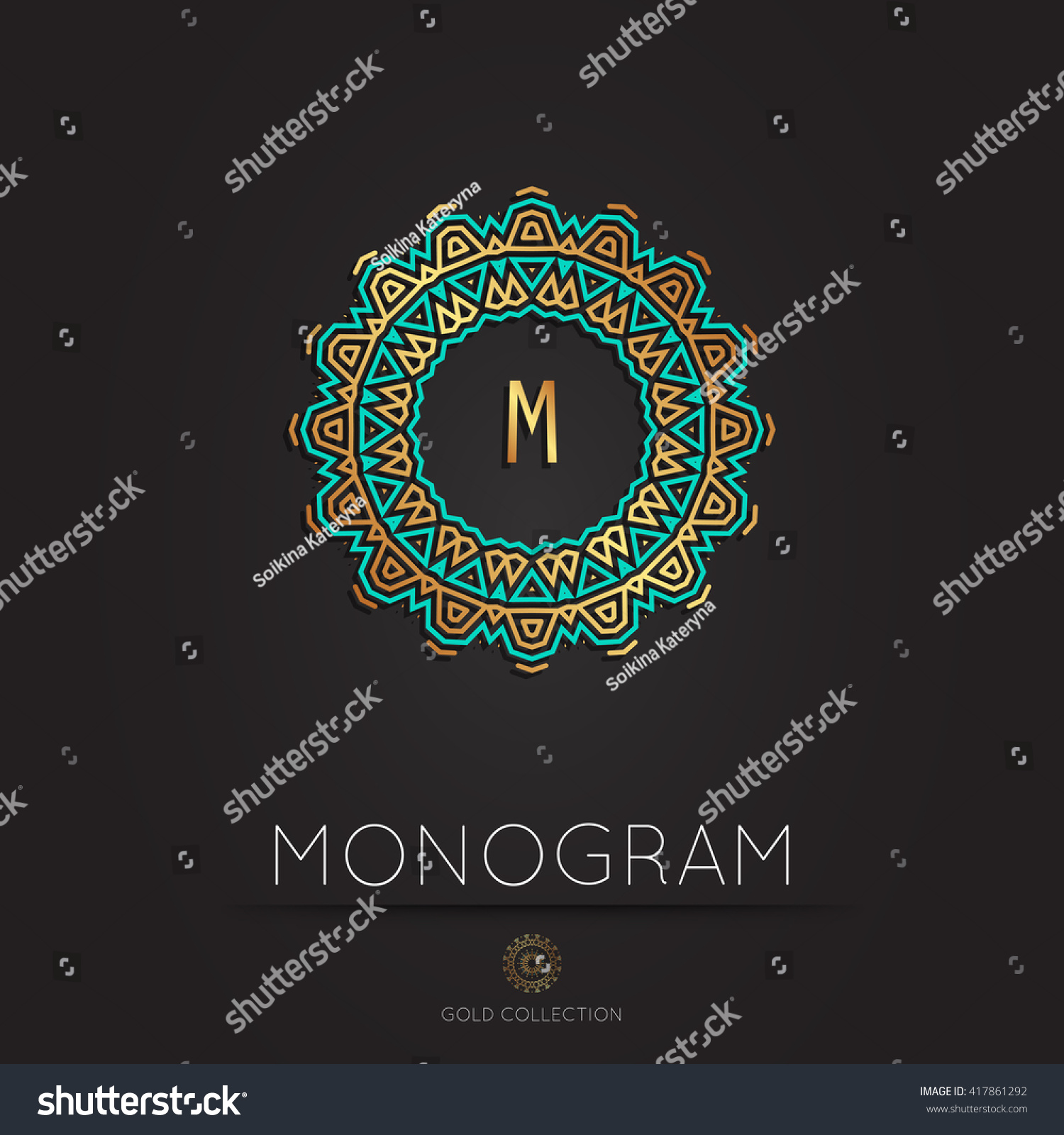 Royal Elegant Linear Abstract Monogram Vector Stock Vector ...