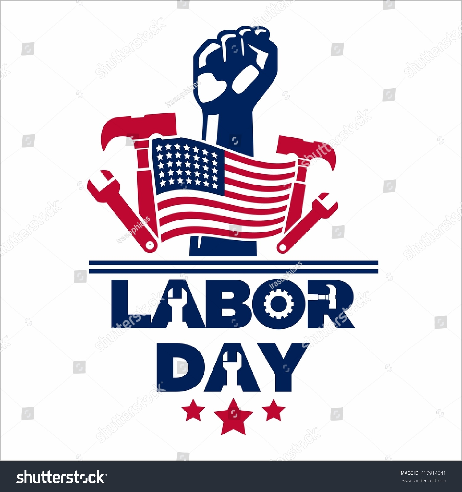 Labor day logo template stock vector 417914341 shutterstock labor day logo template buycottarizona Choice Image