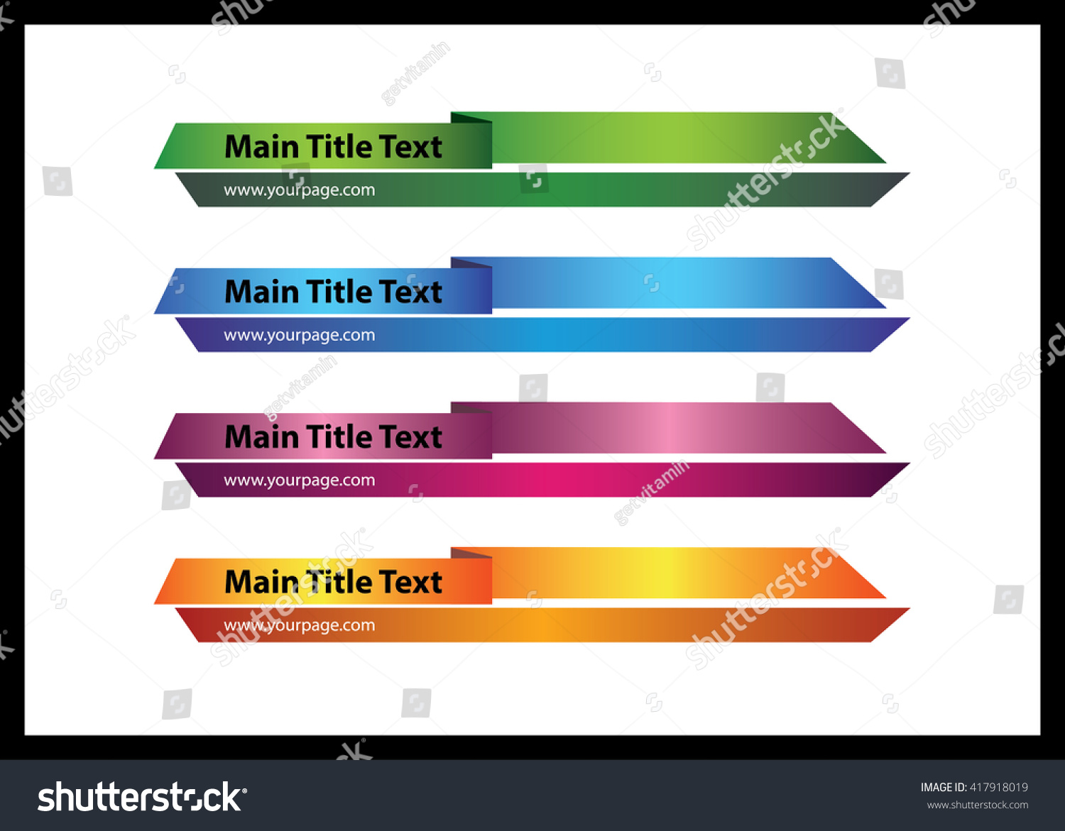 web graphic lower third banners template stock vector royalty free