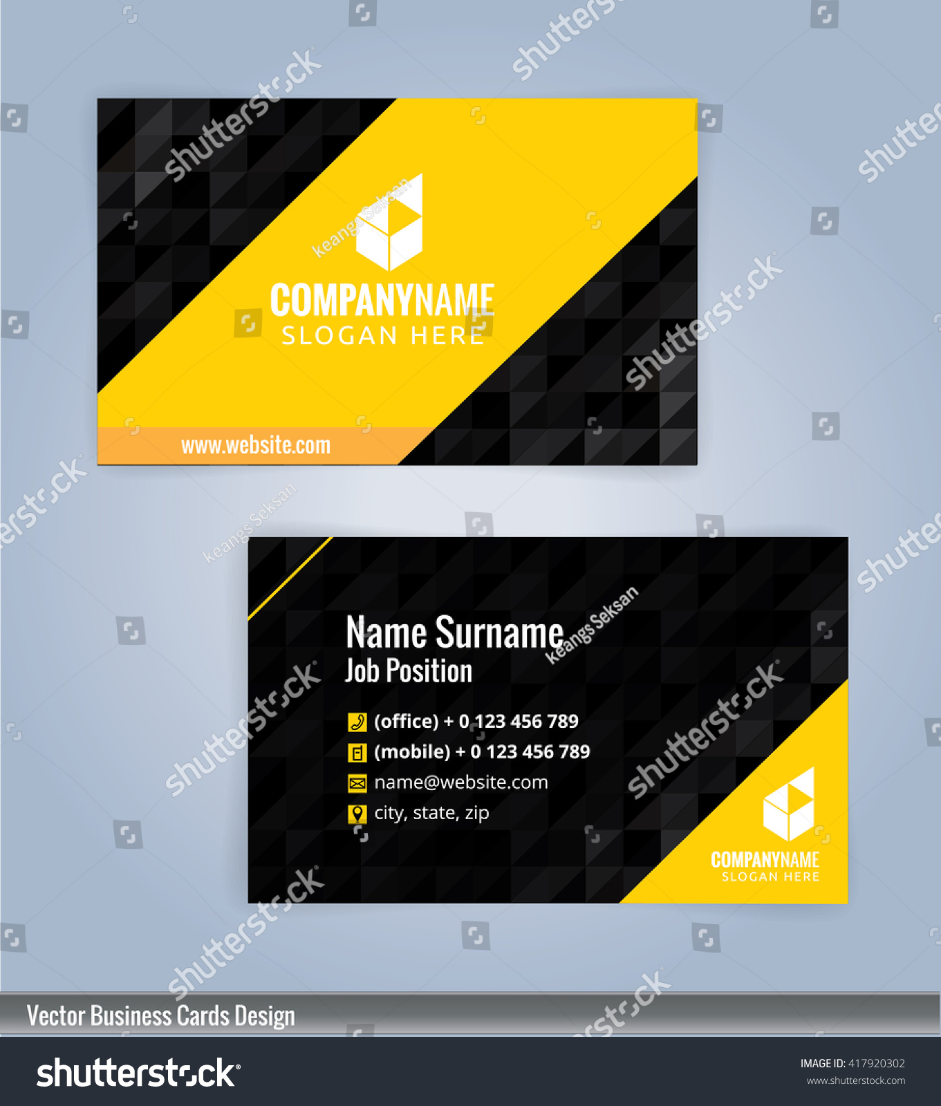 modern business card templatesvectors 10 stock vector