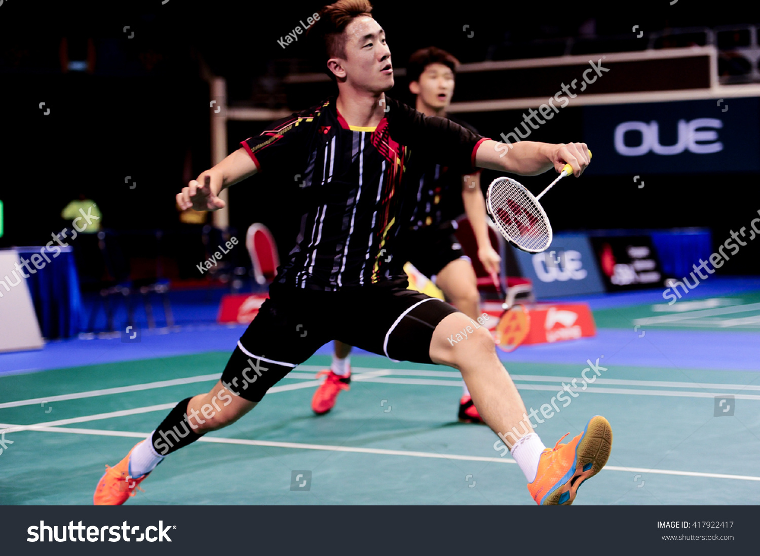 Singapore 13 April 2016 Mens Doubles Stock