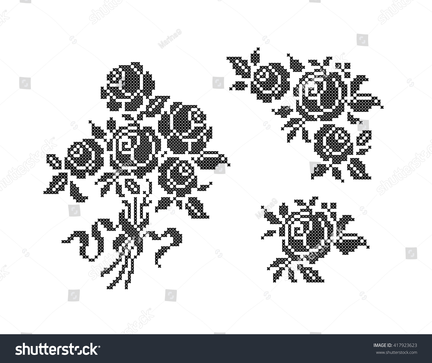 Embroidery of a flower. Scheme for beginners
