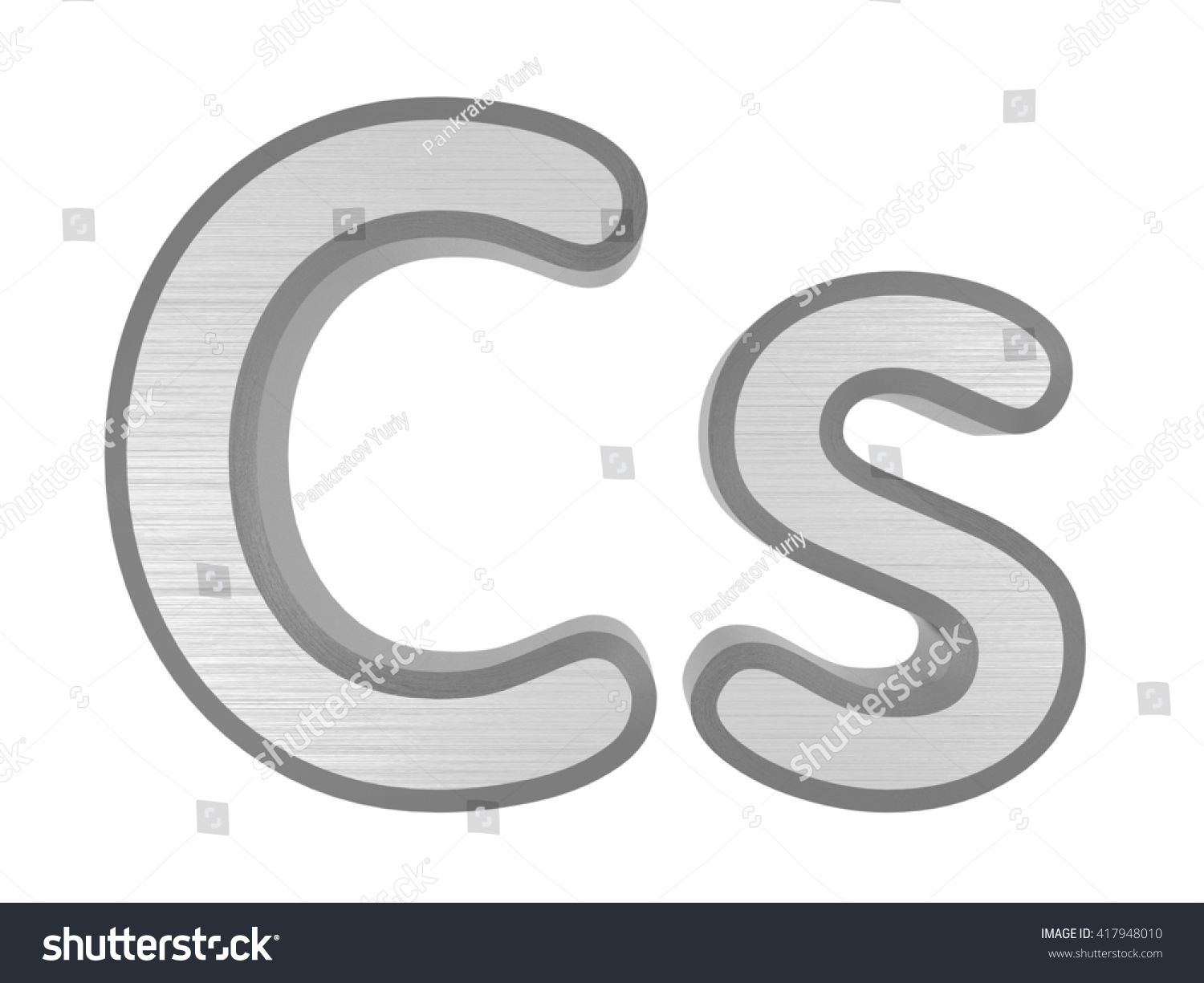 Periodic table elements cesium 3 d title stock illustration periodic table of elements cesium 3d title isolated on white 3d rendering urtaz Gallery