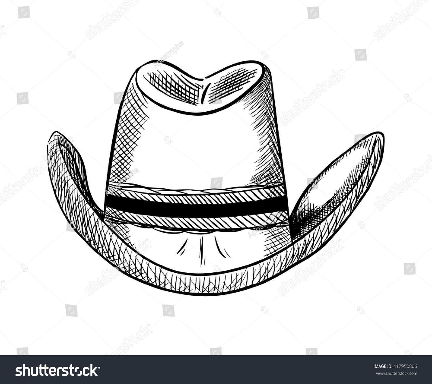 Cowboy Hat Vector Stock Vector (Royalty Free) 417950806 - Shutterstock aa3d0e83ff9