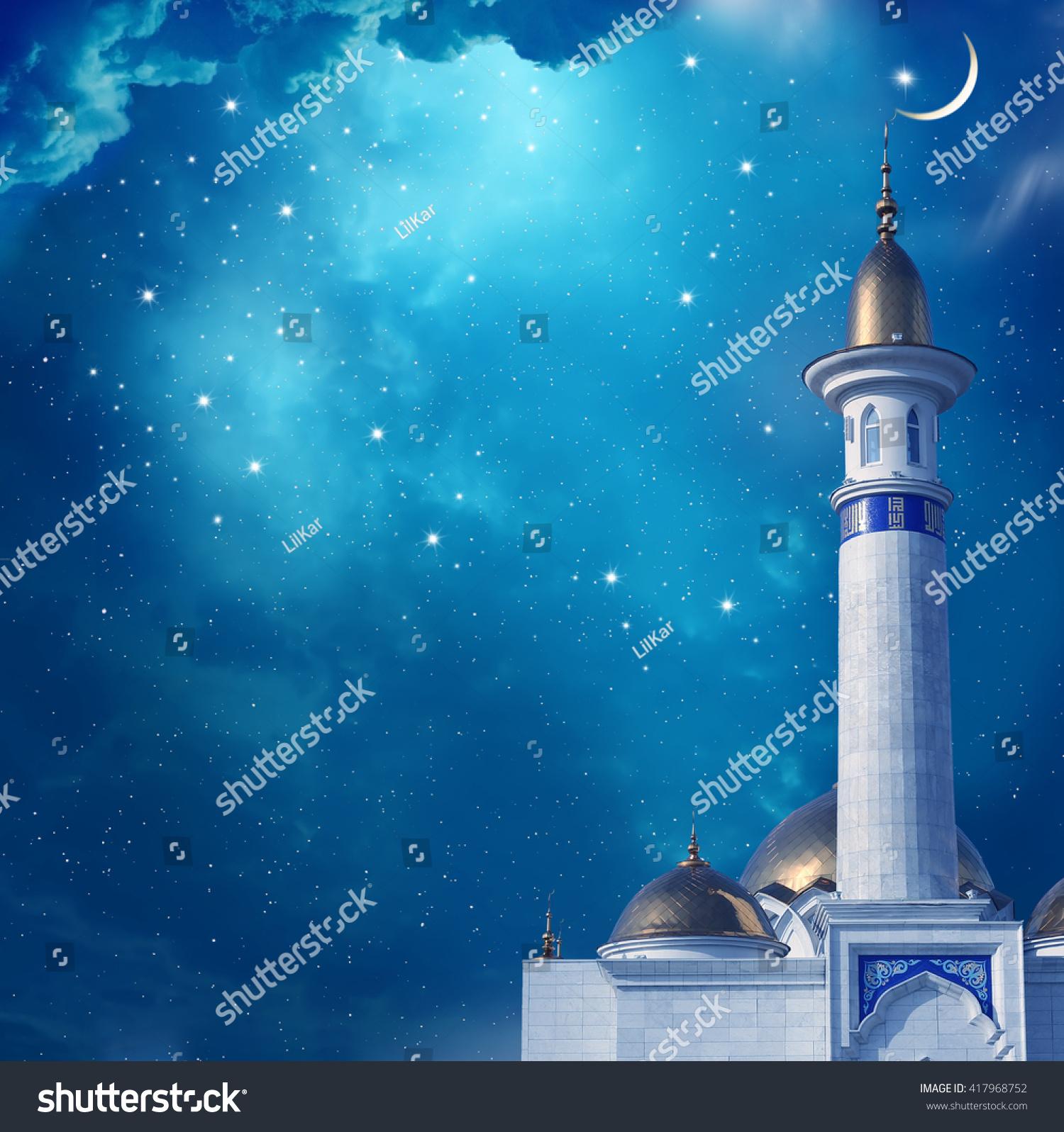 Mosque background for ramadan kareem stock photography image - Ramadan Kareem Background With Mosque