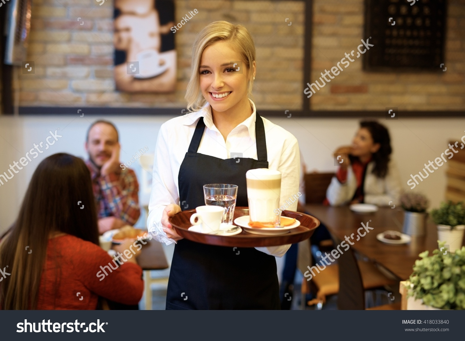 awful example of stock photos for a restaurant