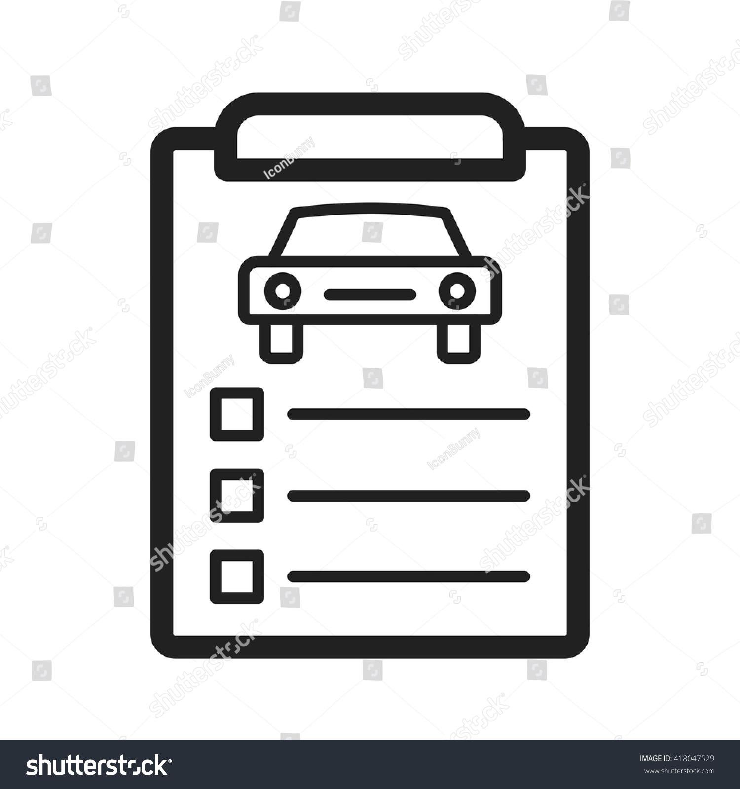 stock vector car items checklist 418047529 car items checklist stock vector (royalty free) 418047529 shutterstock