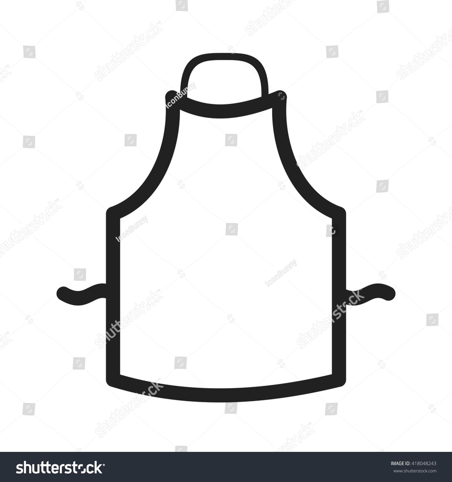 White apron clipart - Apron