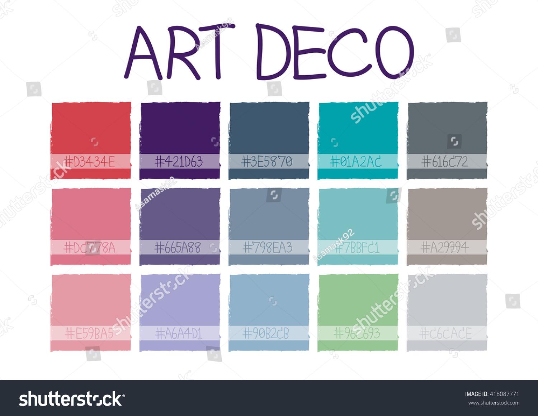 art deco color tone code vector stock vector royalty free