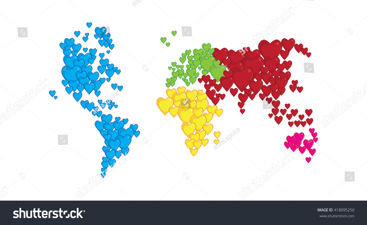 World map shapes heart concept love vectores en stock 418095250 world map in shapes of heart concept of love and peace gumiabroncs Gallery