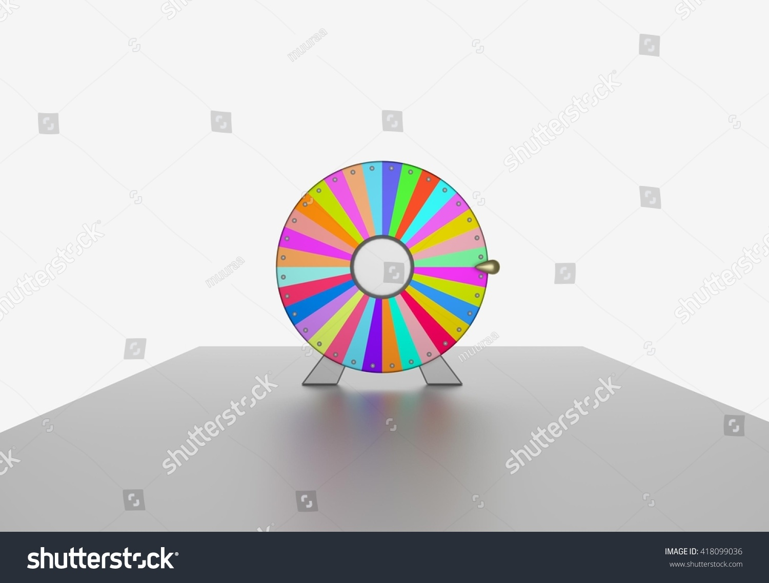 Colorful Wheel Fortune Symbol Gambling Lucky Stock Illustration