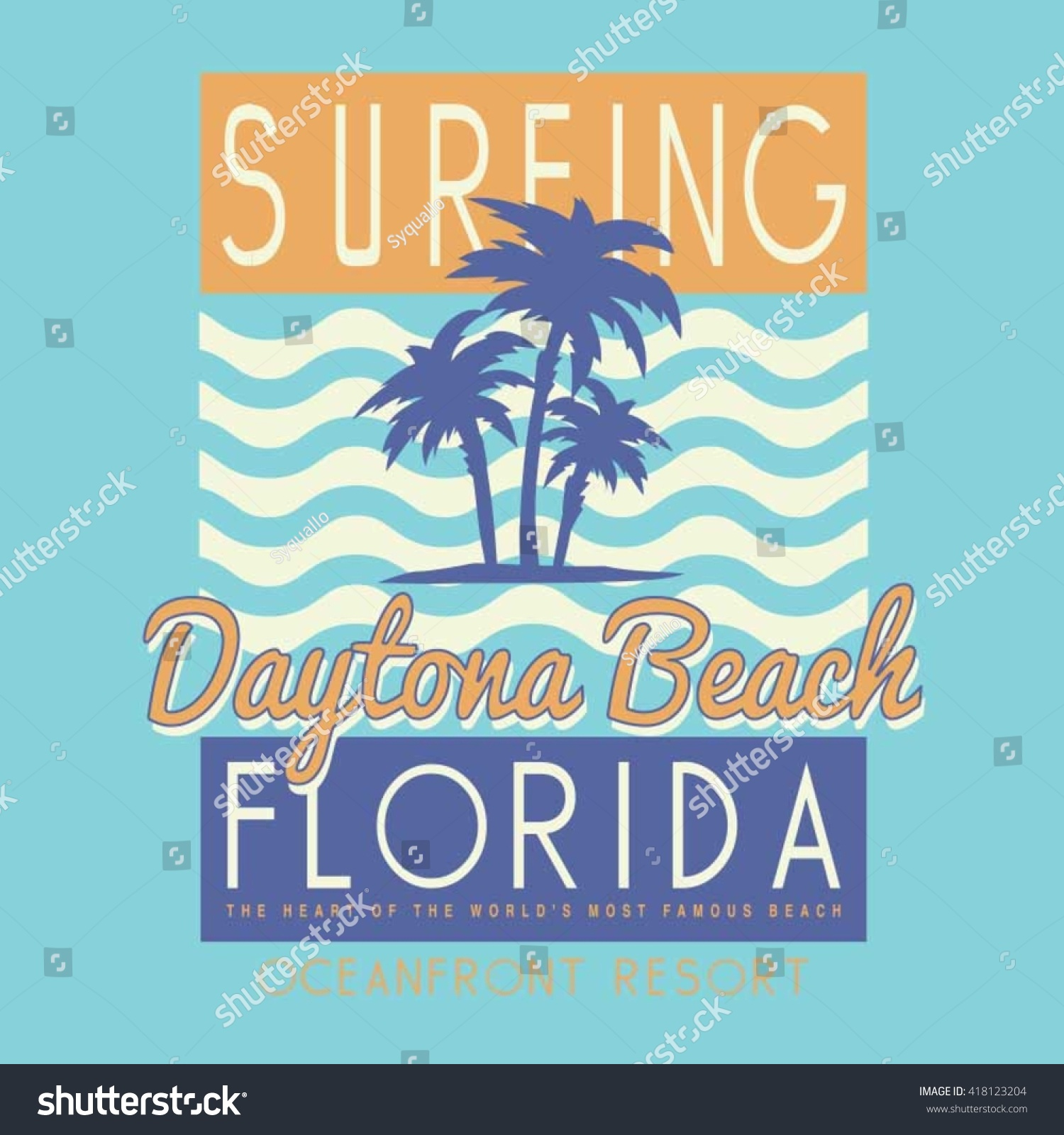 Vintage Surf Typography T Shirt Graphics Vectors 418123204