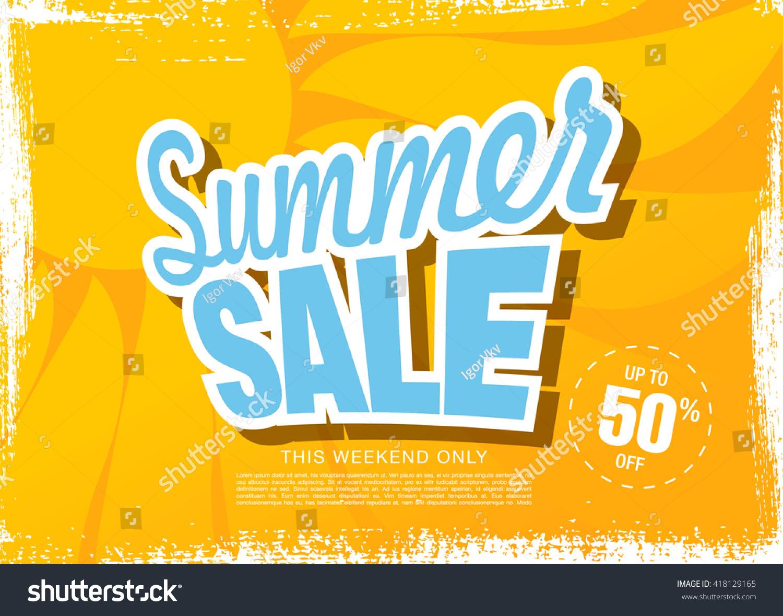 summer template banner stock vector shutterstock summer template banner