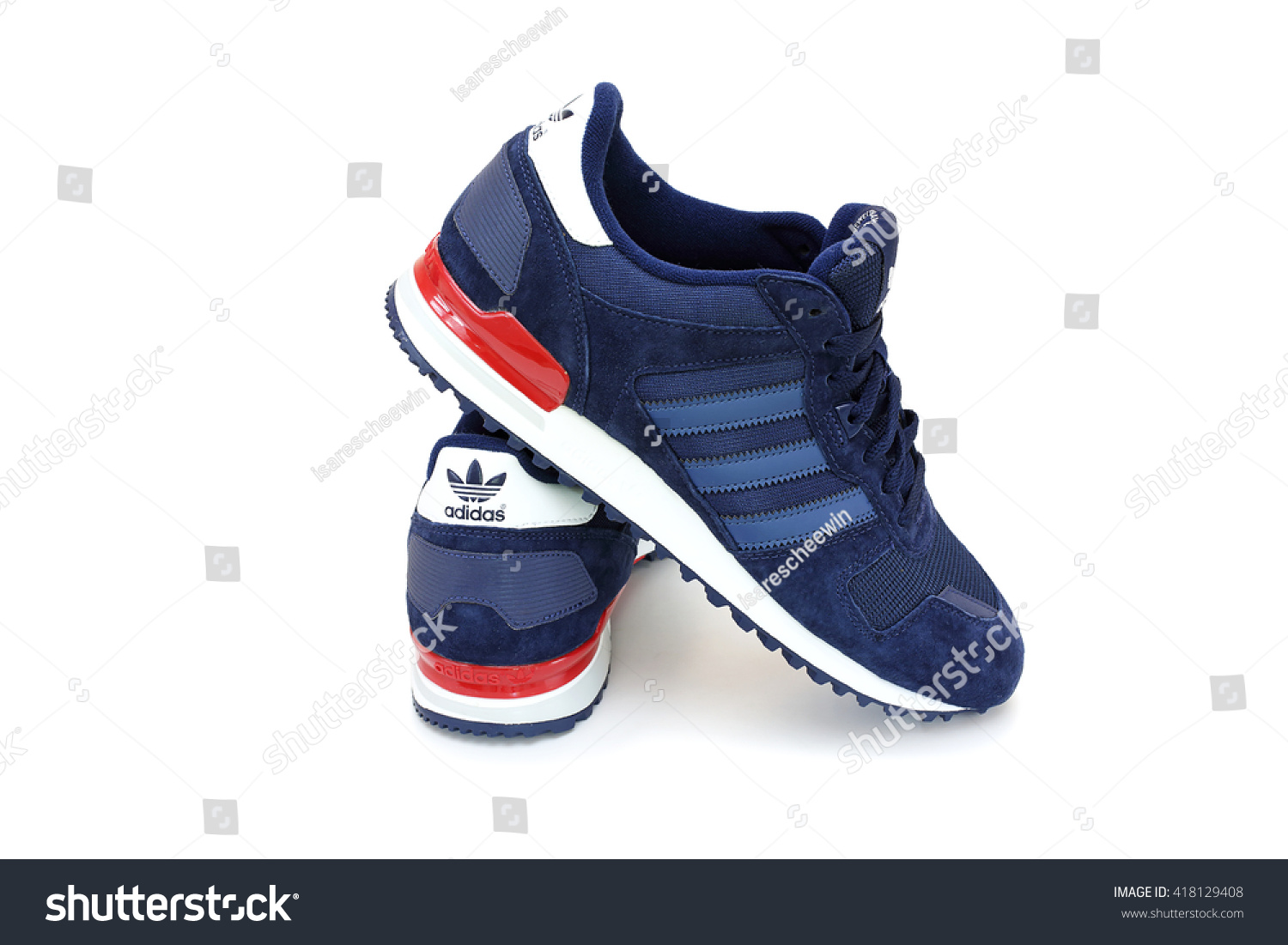 CHANTHABURI, THAILAND - MAY 1: Adidas ZX 700 shoes pair with isolated on  white