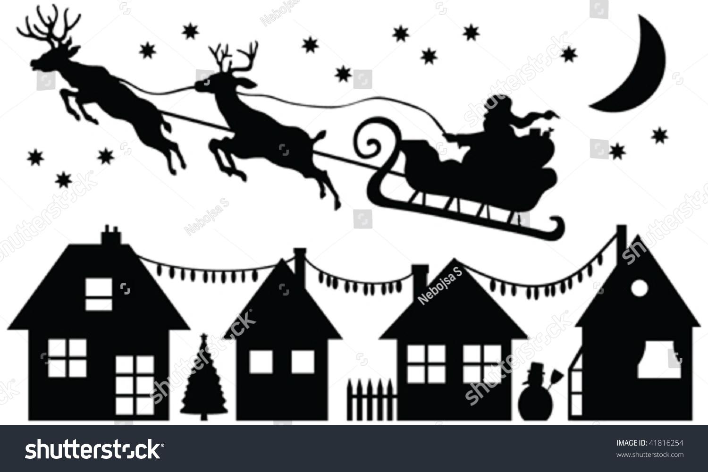 Santa Claus Silhouette Vector Stock Vector 41816254 ...