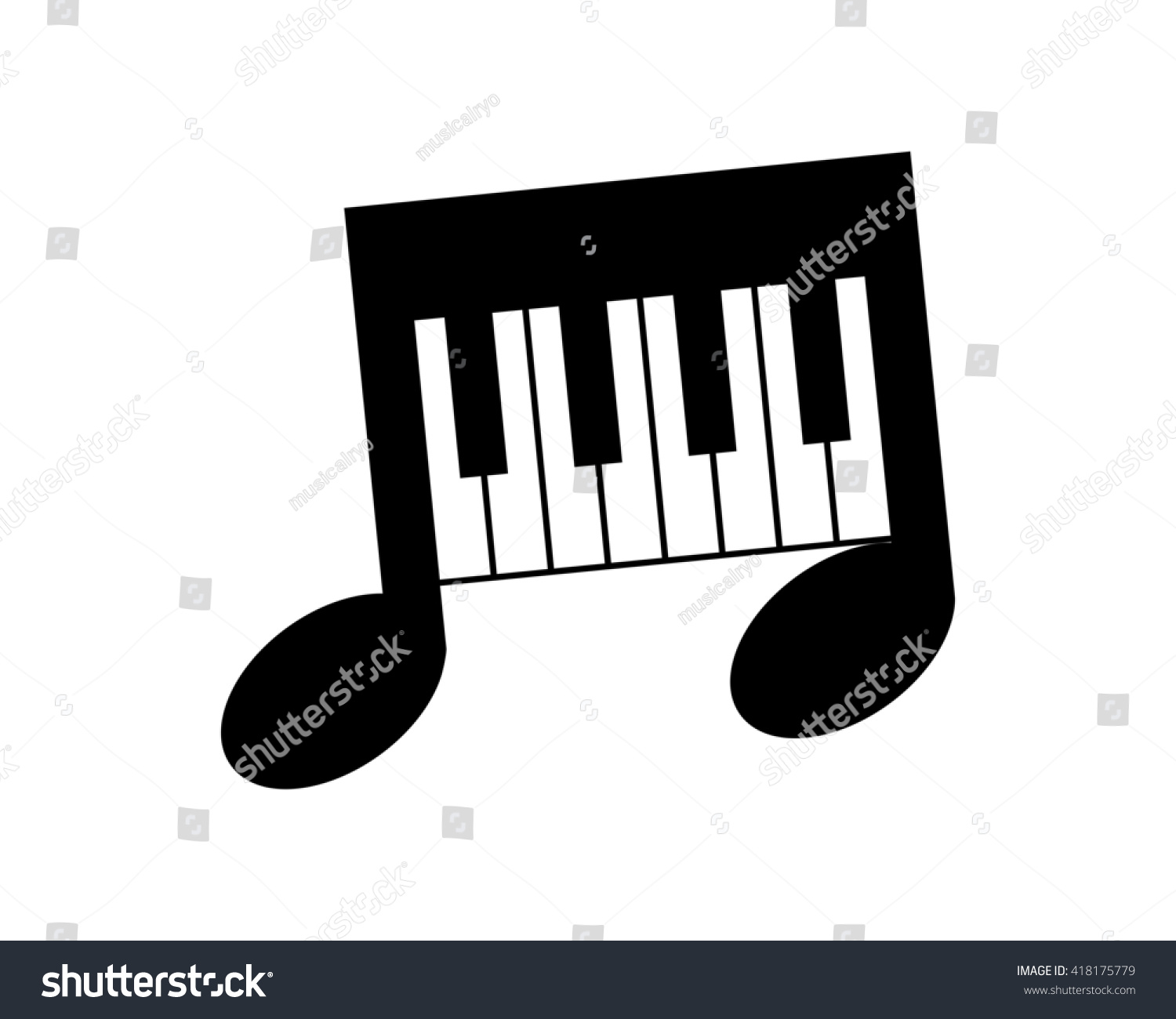 piano musical notes tone tune rhythm stock vector 418175779 rh shutterstock com Music Notes Clip Art Music Notes