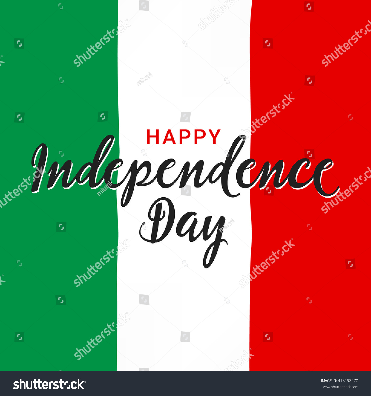 Italy Independence Day Greeting Card National Stock Vector Royalty