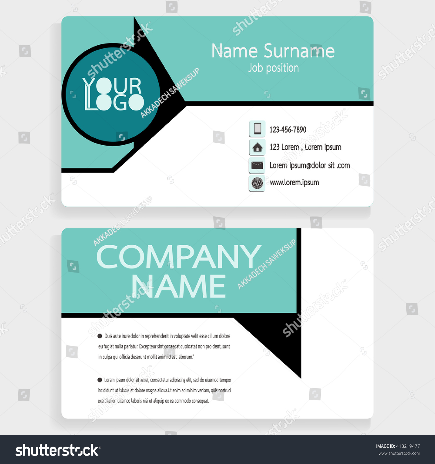 Business Card Sample Layout Choice Image - Card Design And Card ...